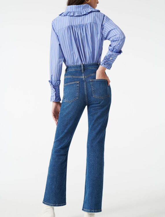 Jeans with pockets : Jeans color Blue