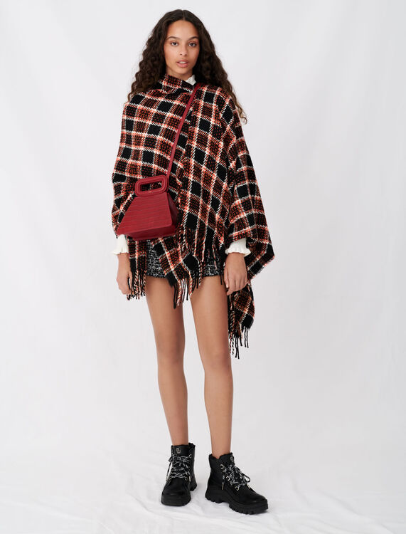 Checked poncho - Scarves and shawls - MAJE
