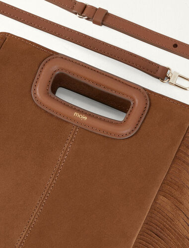 Suede M bag : M Bag color Camel