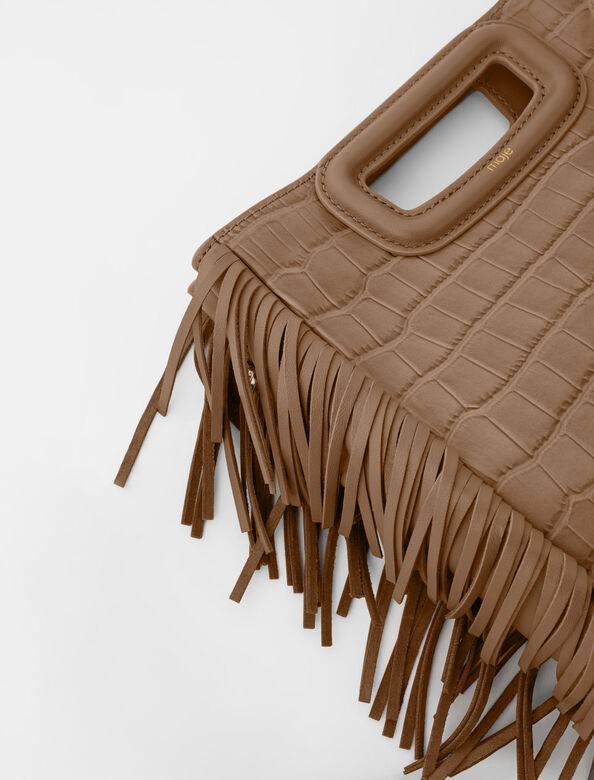 Crocodile embossed-leather M bag : M Bag color Mole
