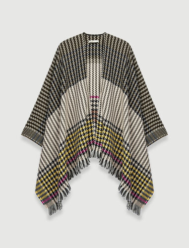 Houndstooth poncho : Other accessories color Multi-Coloured