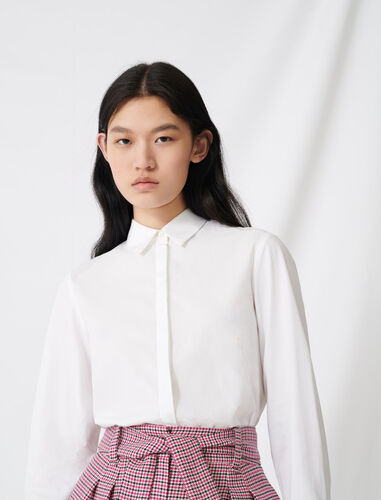 White poplin shirt : Shirts color White