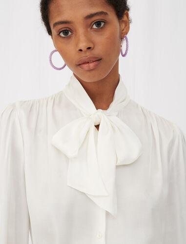 宽松缎布衬衫 : null 顏色 淡褐色/ECRU