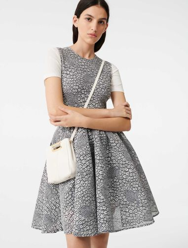 Skater two-tone knit dress : Dresses color Grey