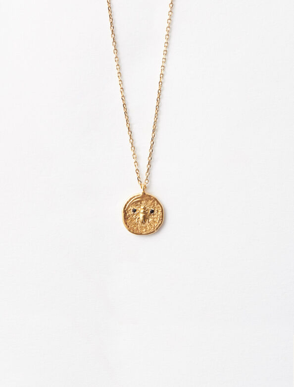 Ma puce gold-plated necklace : Sentimental medals color Gold