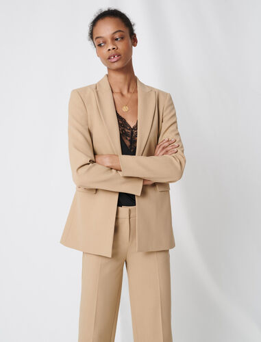 Nude fitted tailored jacket : Blazers color Beige