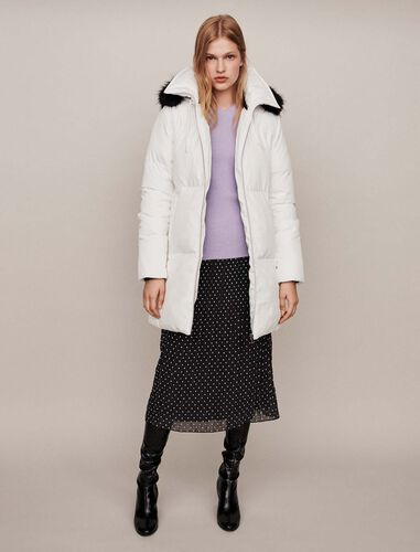 Hooded puffer : Winter collection color White
