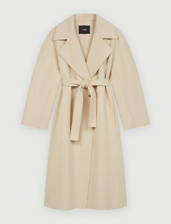 Double-faced wool-blend coat - Coats & Jackets - MAJE