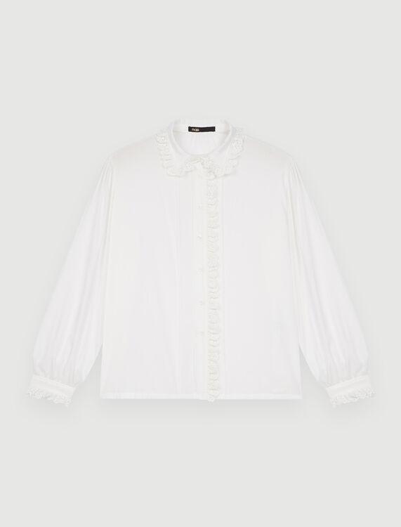 Voile shirt with Peter Pan collar - Shirts - MAJE