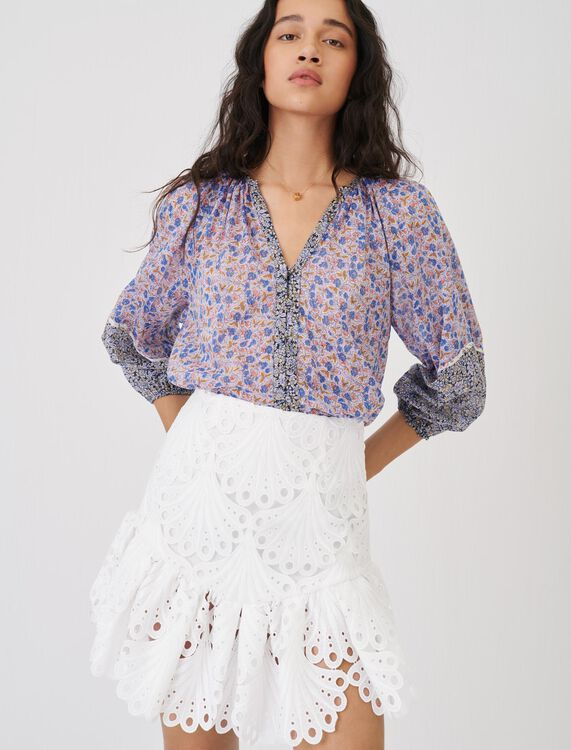 Guipure skirt - Skirts - MAJE