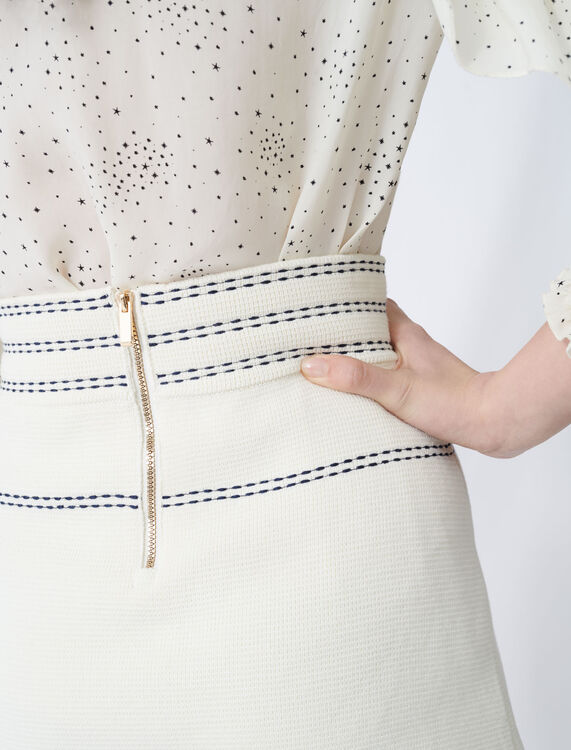 Skirt with contrasting topstitching - Skirts - MAJE