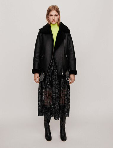 Leather jacket : Coats & Jackets color Black