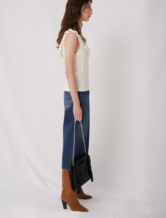 Fancy knit tank-style sweater : Sweaters color Ecru