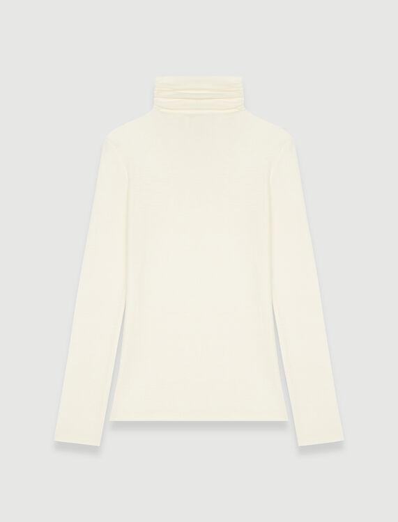 Tee shirt style under turtleneck sweater - Tops - MAJE