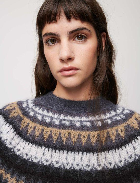 Jacquard sweater - Sweaters & Cardigans - MAJE