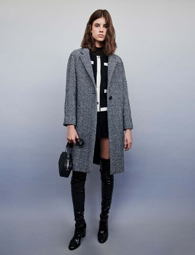 Chevron coat : Overcoat color Grey