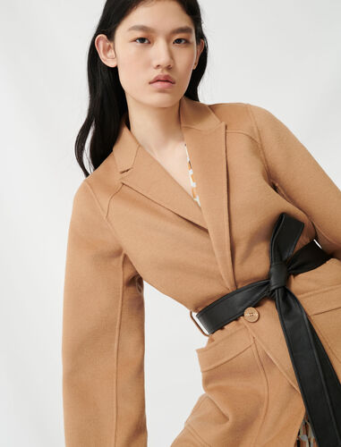 Camel belted coat : Coats & Jackets color Camel