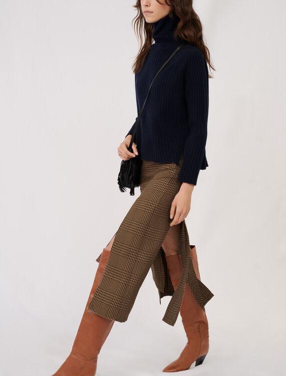 High neck cashmere sweater - Sweaters - MAJE