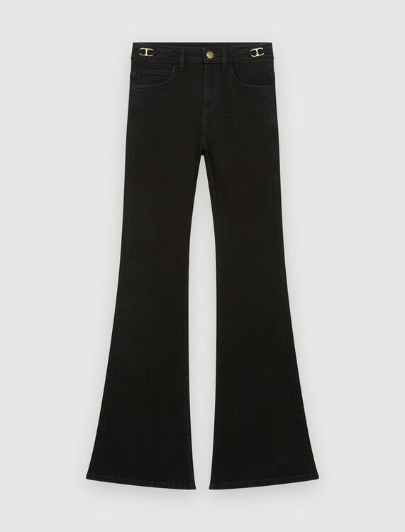 Flared jeans with horsebit - Trousers & Jeans - MAJE