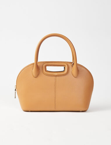 Smooth leather handbag : Shoulder bags color Camel