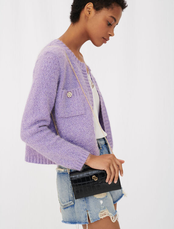 Cardigan with jewel buttons - Cardigans - MAJE