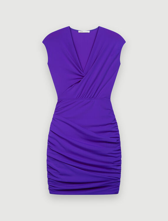 Dress in stretch technical fabric - Dresses - MAJE