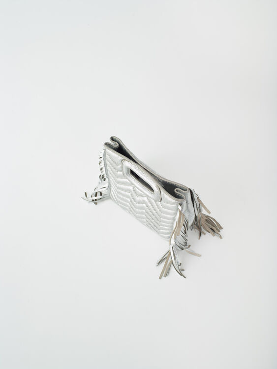 Mini silver quilted leather M bag : M Bag color Silver