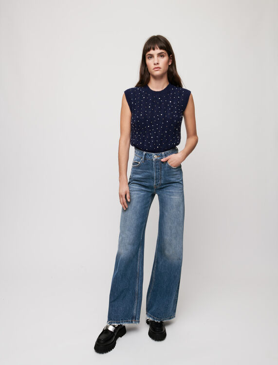 High-waist wide-leg jeans - Trousers & Jeans - MAJE