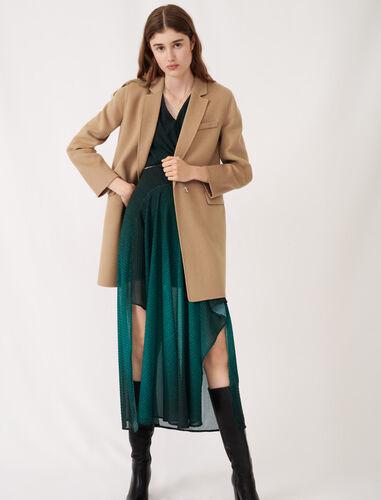 Jacket-style double sided camel coat : Coats & Jackets color Camel