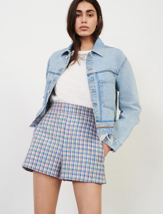Tweed--style shorts - Shorts - MAJE