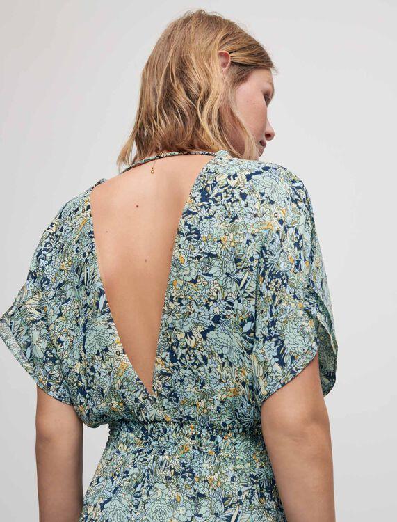 Printed chiffon scarf dress - Dresses - MAJE