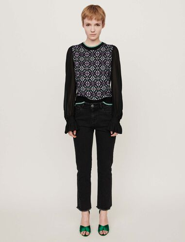 Basic straight-leg jeans : Jeans color Anthracite
