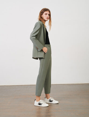 Fresco wool suit trousers : Trousers color Khaki