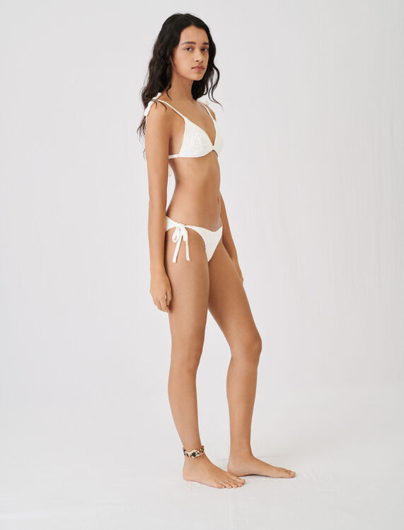 Crochet-style swimsuit - Tops - MAJE