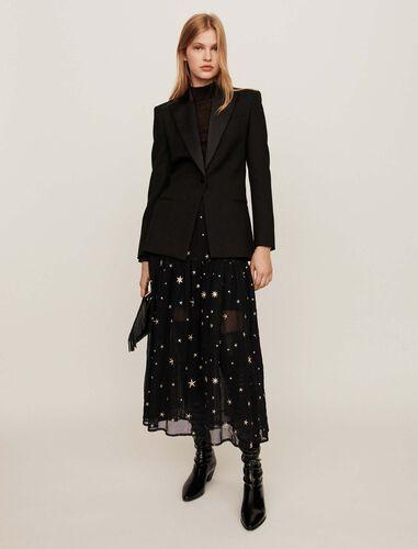 Tuxedo jacket with satin collar : Blazers color Black
