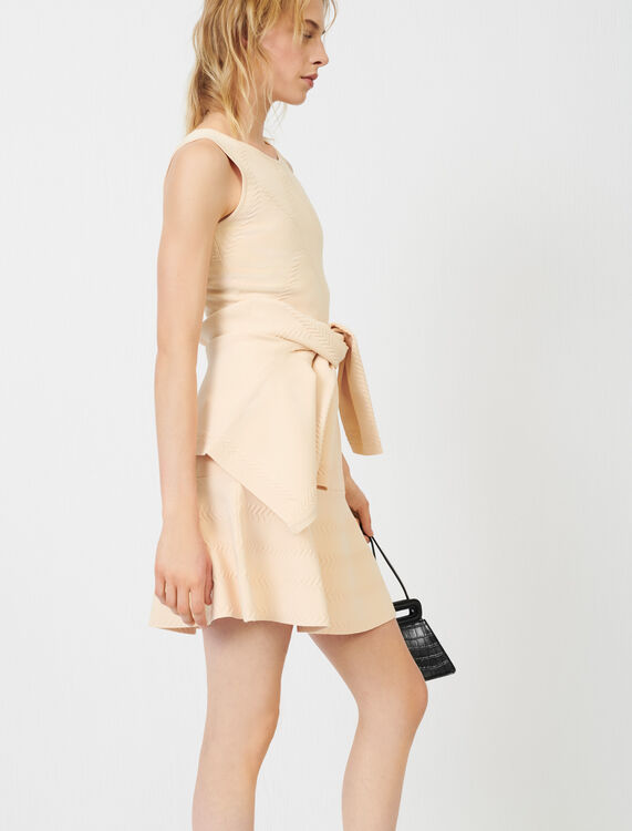 Fine knit jacquard dress - View All - MAJE