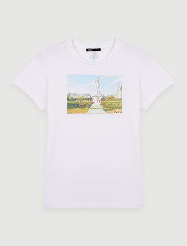 Silkscreen printed T-shirt : T-Shirts color White