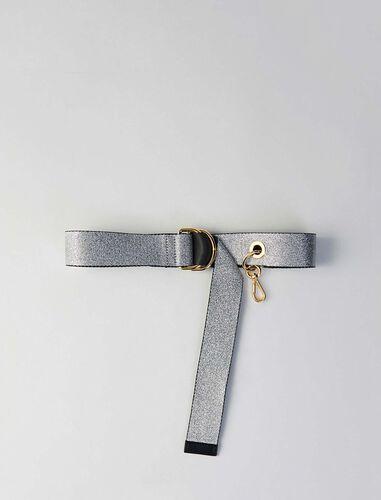 Strappy belt with removable hook : Belts color 酒红色/酒红色