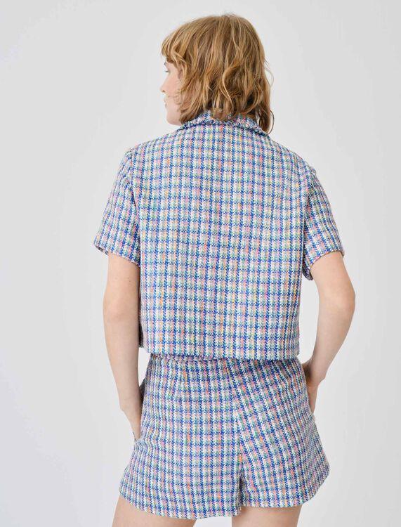 Short-sleeved tweed jacket - Blazers - MAJE
