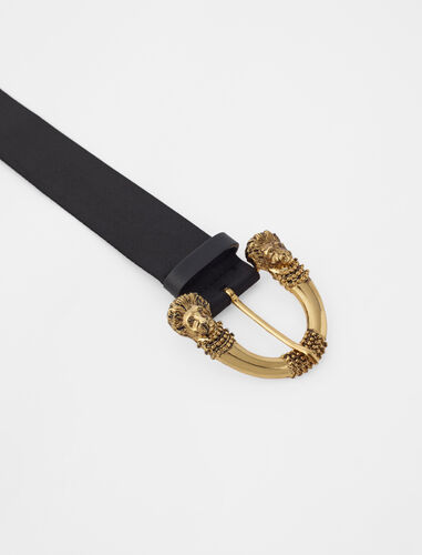 Strap belt with buckle : Belts color Black