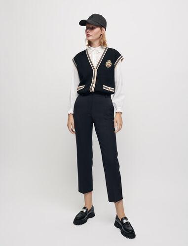 直筒剪裁西裤 : Trousers & Jeans 顏色 深蓝色/NAVY
