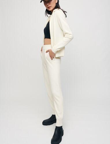 100% cashmere tracksuit trousers : Trousers color Ecru