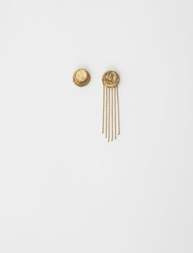 非对称吊坠耳环 : 其他配饰 顏色 古铜色/Old Brass
