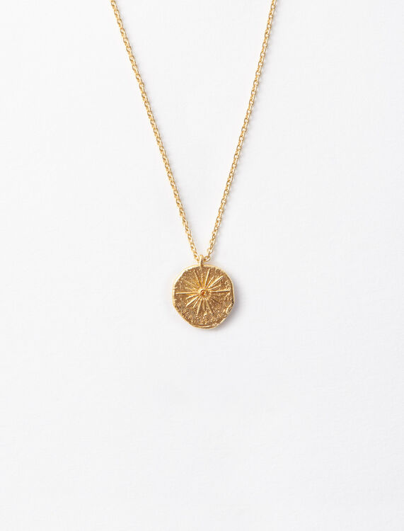 """Mon Soleil"" gold-plated necklace : Jewelry color Gold"
