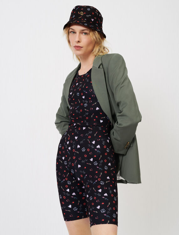 Straight-cut fresco wool suit jacket : Blazers color Khaki