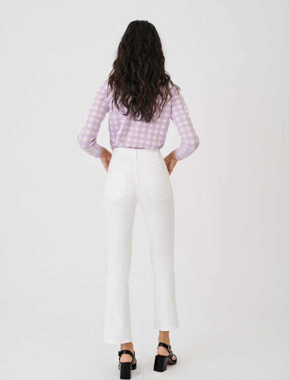Flared jeans with pockets and buttons - Jeans - MAJE