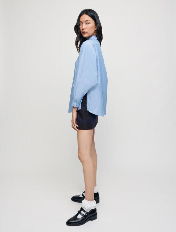 100% cotton shirt with Peter Pan collar - Shirts - MAJE