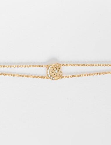 Moon charm bracelet : Jewelry color Gold
