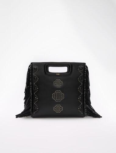 三叶草图案铆钉皮革包 : M Bag 顏色 黑色/BLACK