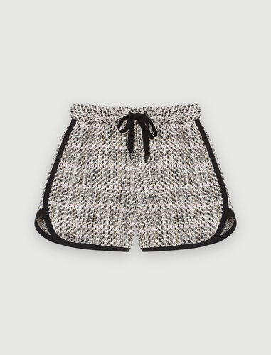Contrasting tweed-style shorts : Skirts & Shorts color Pale Pink